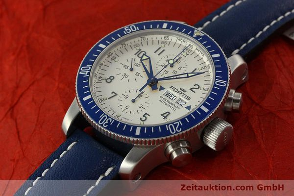 Used luxury watch Fortis B42 chronograph steel automatic Kal. ETA 7750 Ref. 640.10.141  | 150720 01