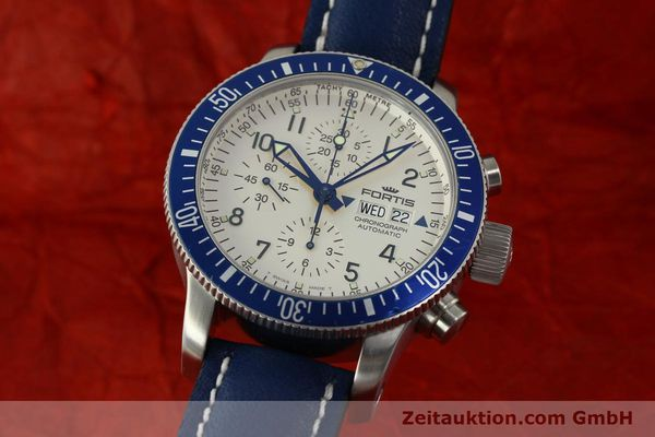 Used luxury watch Fortis B42 chronograph steel automatic Kal. ETA 7750 Ref. 640.10.141  | 150720 04