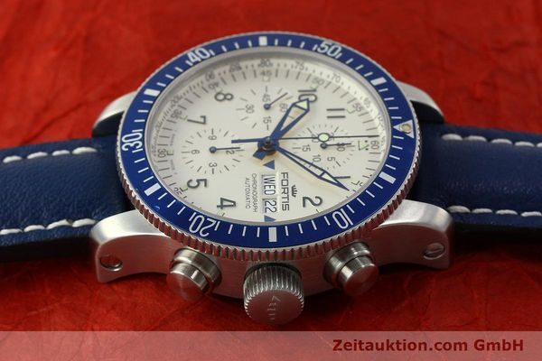 Used luxury watch Fortis B42 chronograph steel automatic Kal. ETA 7750 Ref. 640.10.141  | 150720 05