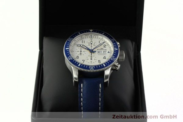 Used luxury watch Fortis B42 chronograph steel automatic Kal. ETA 7750 Ref. 640.10.141  | 150720 07