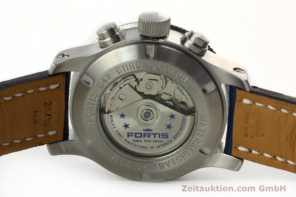 Used luxury watch Fortis B42 chronograph steel automatic Kal. ETA 7750 Ref. 640.10.141  | 150720 09