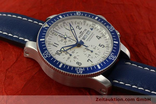 Used luxury watch Fortis B42 chronograph steel automatic Kal. ETA 7750 Ref. 640.10.141  | 150720 14