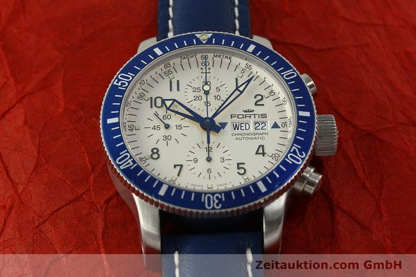 Used luxury watch Fortis B42 chronograph steel automatic Kal. ETA 7750 Ref. 640.10.141  | 150720 15