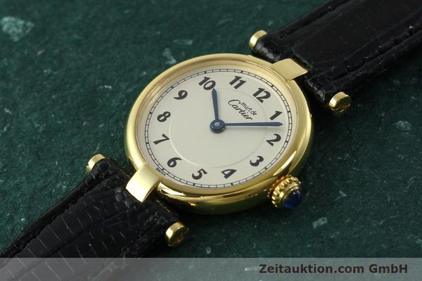 Used luxury watch Cartier Vermeil silver-gilt quartz Kal. 90  | 150721 01