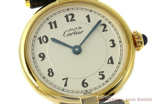 Used luxury watch Cartier Vermeil silver-gilt quartz Kal. 90  | 150721 02