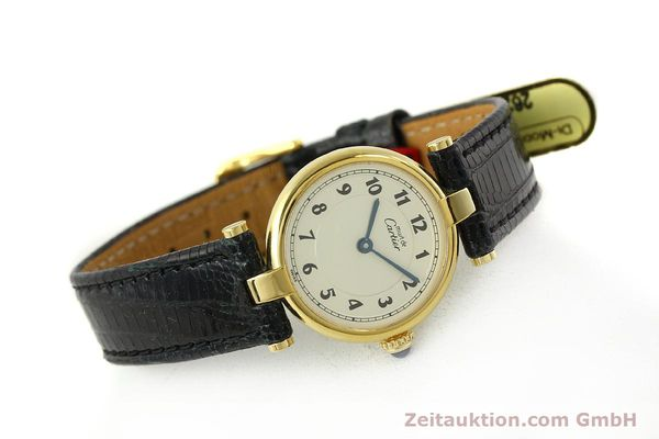 Used luxury watch Cartier Vermeil silver-gilt quartz Kal. 90  | 150721 03