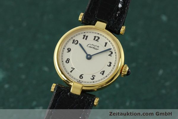 Used luxury watch Cartier Vermeil silver-gilt quartz Kal. 90  | 150721 04