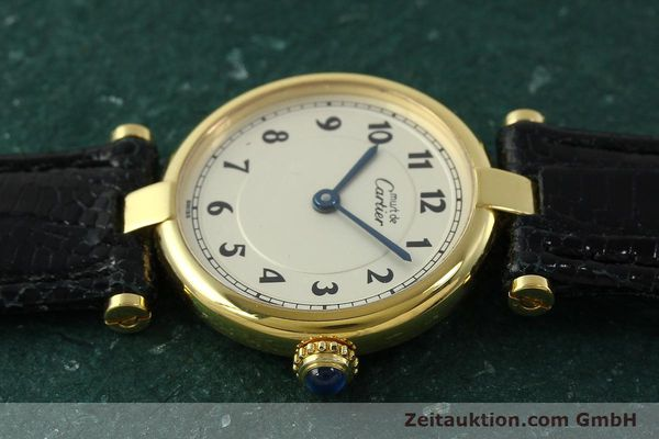 Used luxury watch Cartier Vermeil silver-gilt quartz Kal. 90  | 150721 05