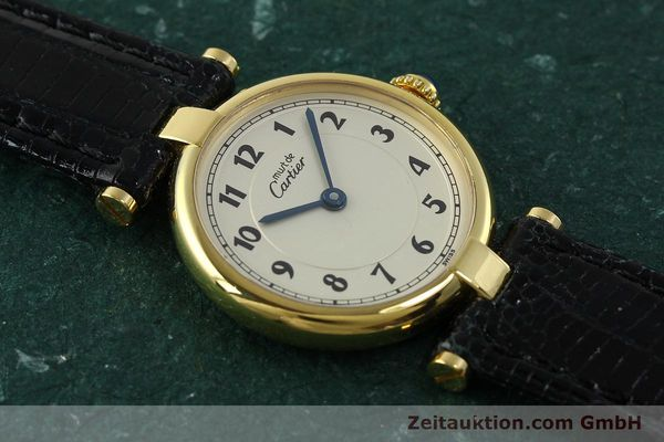 Used luxury watch Cartier Vermeil silver-gilt quartz Kal. 90  | 150721 12