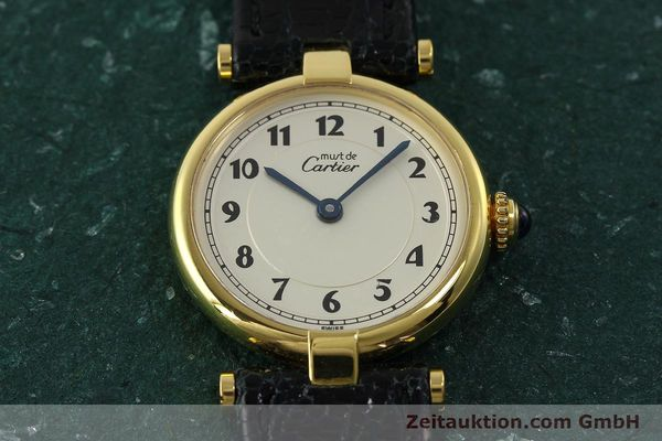 Used luxury watch Cartier Vermeil silver-gilt quartz Kal. 90  | 150721 13