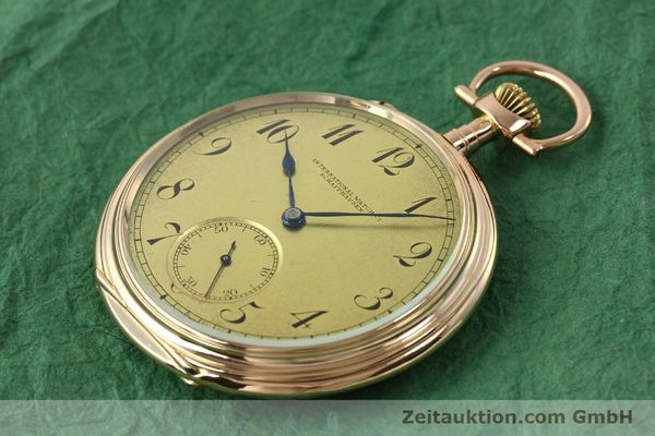 Used luxury watch IWC Taschenuhr 14 ct red gold manual winding Kal. 55231  | 150728 01