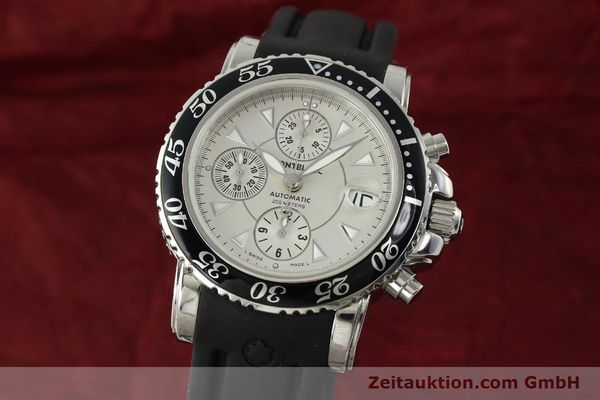 Used luxury watch Montblanc Sport Chronograph chronograph steel automatic Kal. 4810501 ETA 7750 Ref. 7034  | 150739 04