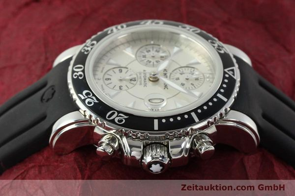 Used luxury watch Montblanc Sport Chronograph chronograph steel automatic Kal. 4810501 ETA 7750 Ref. 7034  | 150739 05