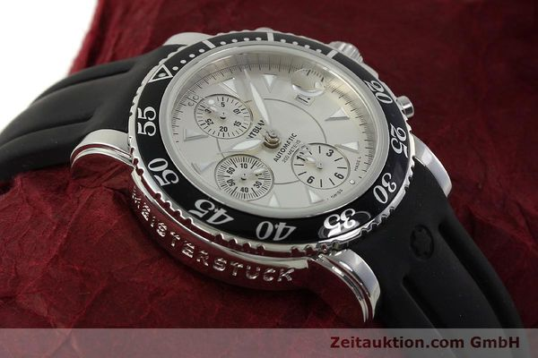 Used luxury watch Montblanc Sport Chronograph chronograph steel automatic Kal. 4810501 ETA 7750 Ref. 7034  | 150739 15