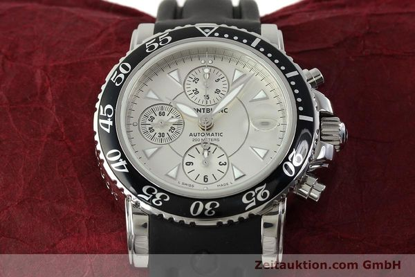 Used luxury watch Montblanc Sport Chronograph chronograph steel automatic Kal. 4810501 ETA 7750 Ref. 7034  | 150739 16