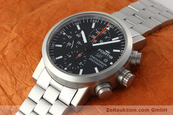 Used luxury watch Fortis Spacematic chronograph steel automatic Kal. ETA 7750 Ref. 625.22.141  | 150755 01