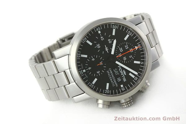 Used luxury watch Fortis Spacematic chronograph steel automatic Kal. ETA 7750 Ref. 625.22.141  | 150755 03