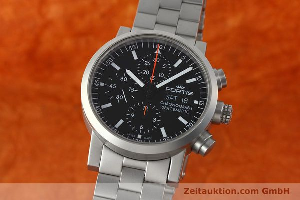 Used luxury watch Fortis Spacematic chronograph steel automatic Kal. ETA 7750 Ref. 625.22.141  | 150755 04