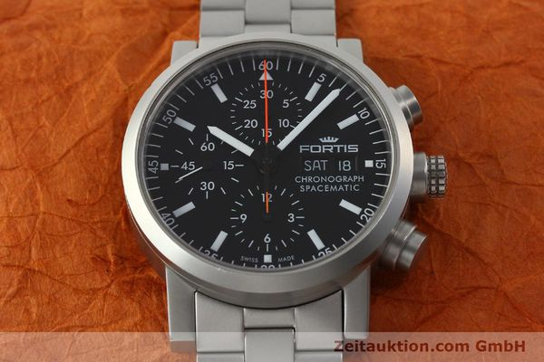 Used luxury watch Fortis Spacematic chronograph steel automatic Kal. ETA 7750 Ref. 625.22.141  | 150755 17