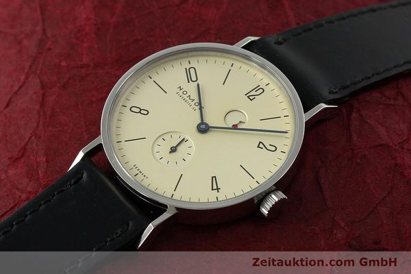 Used luxury watch Nomos Tangente steel manual winding Kal. Gamma 85 LIMITED EDITION | 150764 01