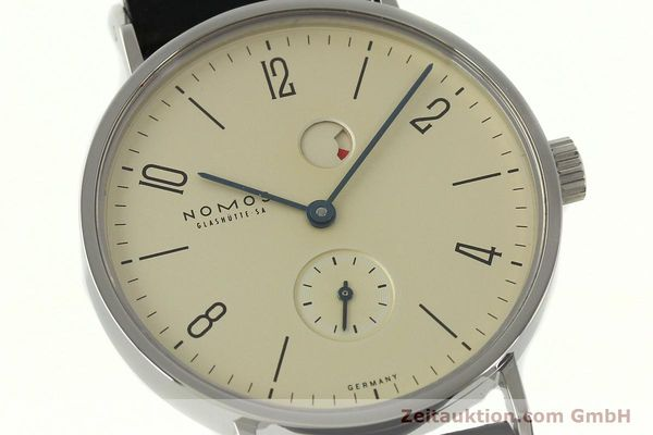 Used luxury watch Nomos Tangente steel manual winding Kal. Gamma 85 LIMITED EDITION | 150764 02