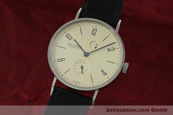 Used luxury watch Nomos Tangente steel manual winding Kal. Gamma 85 LIMITED EDITION | 150764 04