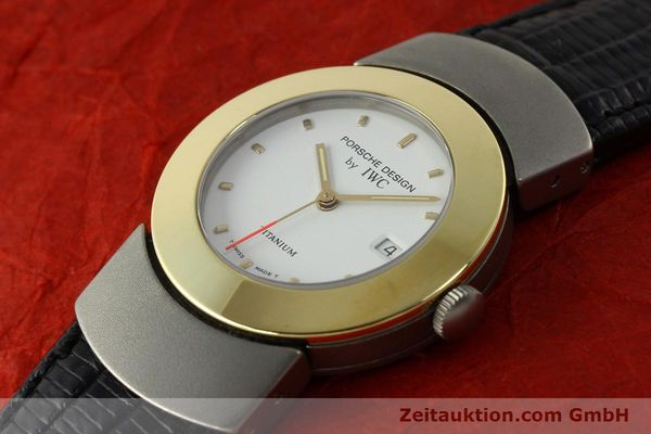 Used luxury watch IWC Porsche Design titanium / gold quartz Kal. 2209 ETA 256111  | 150775 01