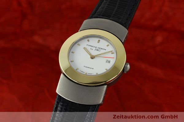 Used luxury watch IWC Porsche Design titanium / gold quartz Kal. 2209 ETA 256111  | 150775 04