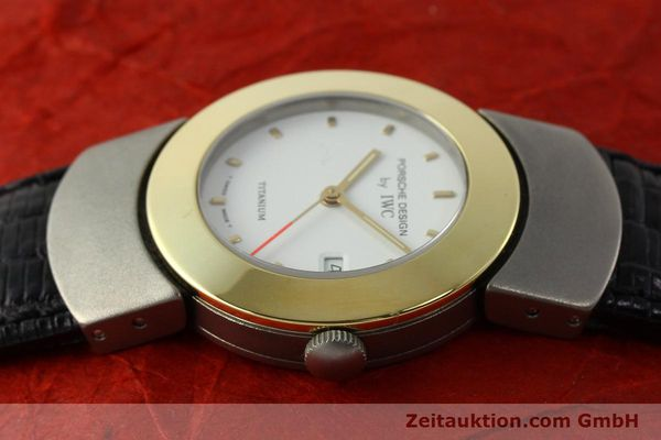 Used luxury watch IWC Porsche Design titanium / gold quartz Kal. 2209 ETA 256111  | 150775 05