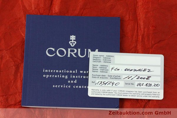 Used luxury watch Corum Admirals Cup steel automatic Kal. ETA 2892A2 Ref. 082.833.20  | 150781 08