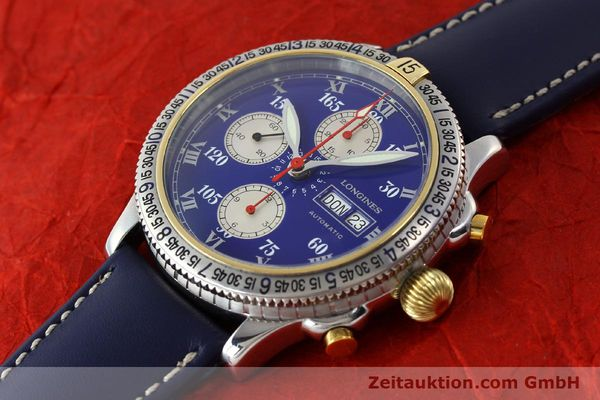 Used luxury watch Longines Lindbergh Stundenwinkel chronograph steel / gold automatic Kal. L674.7 Ref. L2.618.5  | 150783 01