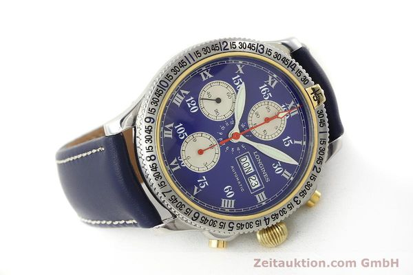 Used luxury watch Longines Lindbergh Stundenwinkel chronograph steel / gold automatic Kal. L674.7 Ref. L2.618.5  | 150783 03