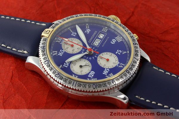 Used luxury watch Longines Lindbergh Stundenwinkel chronograph steel / gold automatic Kal. L674.7 Ref. L2.618.5  | 150783 13