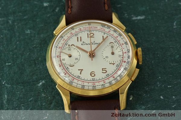 Used luxury watch Breitling * chronograph gold-plated manual winding Kal. Venus 188 Ref. 1193 VINTAGE  | 150801 13