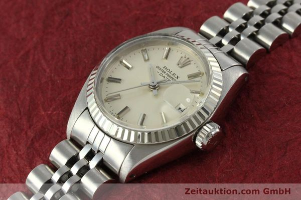 Used luxury watch Rolex Lady Date steel / white gold automatic Kal. 2030 Ref. 6917  | 150804 01