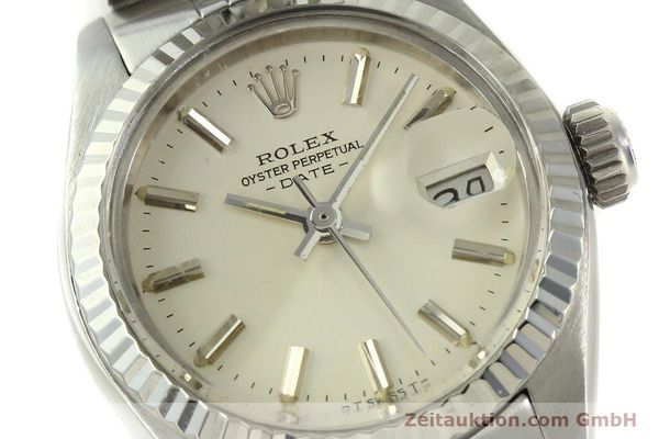 Used luxury watch Rolex Lady Date steel / white gold automatic Kal. 2030 Ref. 6917  | 150804 02