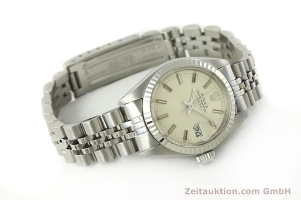 Used luxury watch Rolex Lady Date steel / white gold automatic Kal. 2030 Ref. 6917  | 150804 03