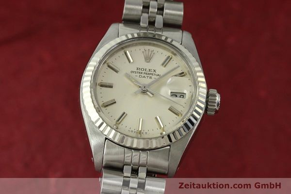 Used luxury watch Rolex Lady Date steel / white gold automatic Kal. 2030 Ref. 6917  | 150804 04