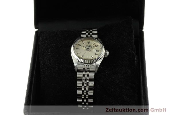Used luxury watch Rolex Lady Date steel / white gold automatic Kal. 2030 Ref. 6917  | 150804 07