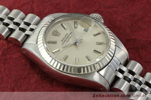 Used luxury watch Rolex Lady Date steel / white gold automatic Kal. 2030 Ref. 6917  | 150804 14