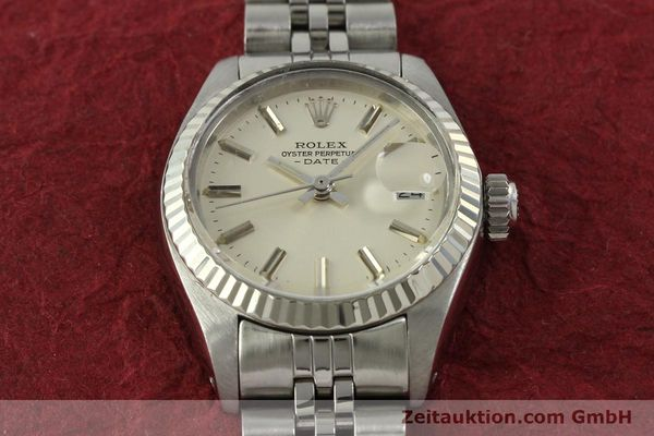 Used luxury watch Rolex Lady Date steel / white gold automatic Kal. 2030 Ref. 6917  | 150804 15