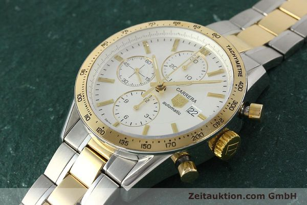 Used luxury watch Tag Heuer Carrera chronograph steel automatic Kal. 16 ETA 7750 Ref. CV2050  | 150808 01