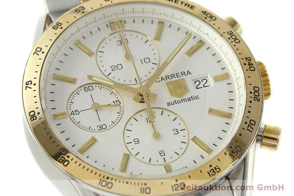 Used luxury watch Tag Heuer Carrera chronograph steel automatic Kal. 16 ETA 7750 Ref. CV2050  | 150808 02