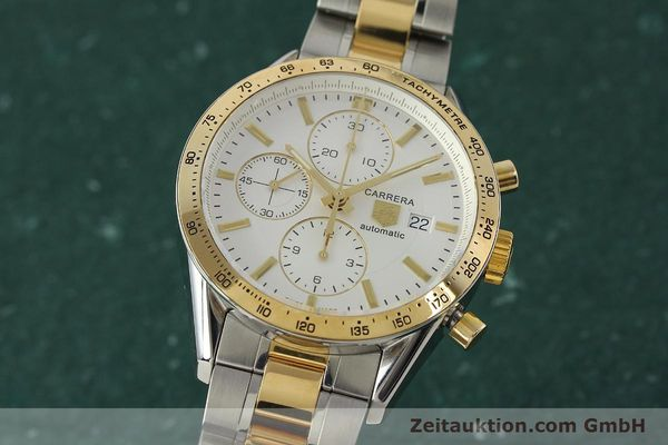 Used luxury watch Tag Heuer Carrera chronograph steel automatic Kal. 16 ETA 7750 Ref. CV2050  | 150808 04