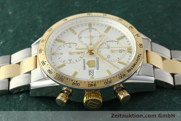 Used luxury watch Tag Heuer Carrera chronograph steel automatic Kal. 16 ETA 7750 Ref. CV2050  | 150808 05