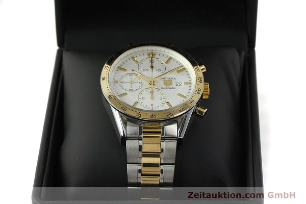 Used luxury watch Tag Heuer Carrera chronograph steel automatic Kal. 16 ETA 7750 Ref. CV2050  | 150808 07