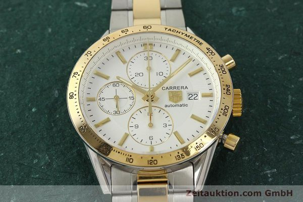Used luxury watch Tag Heuer Carrera chronograph steel automatic Kal. 16 ETA 7750 Ref. CV2050  | 150808 15