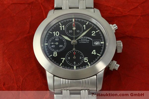 Used luxury watch Mühle Sport Chronograph chronograph steel automatic Kal. ETA 7750 Ref. M12300  | 150814 15