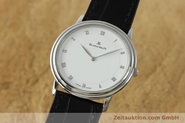 Used luxury watch Blancpain Villeret steel manual winding Kal. 21  | 150820 04