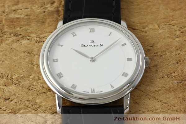 Used luxury watch Blancpain Villeret steel manual winding Kal. 21  | 150820 14